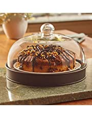 The Lakeside Collection Glass Domed Serving Plate -