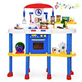 Best Choice Products Kitchen Play Set w/ 67 Accessories, Lights and Sounds
