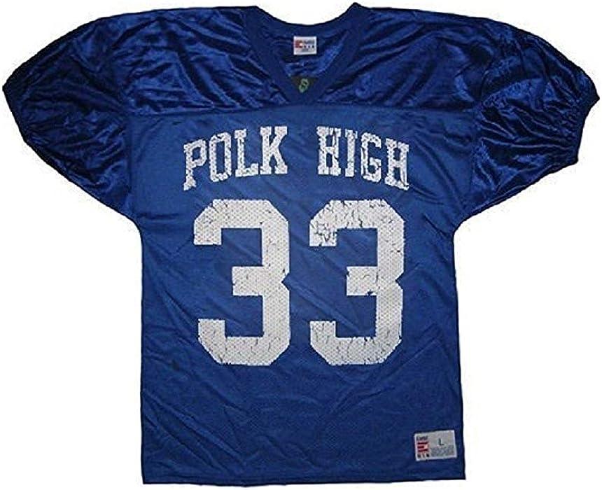 705e45de4 Married with Children Al Bundy Polk High 33 Distressed Blue Football Jersey  Costume (X-