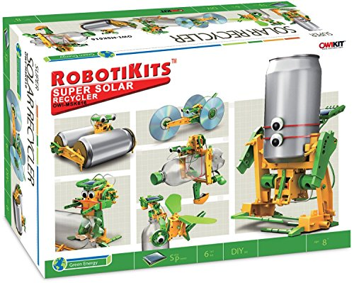 OWI Super Solar Recycler for Both Kids and Teens or Adults Beginners to Build – Humanoid Robotic Construction Kit – Enjoy Your Investment in Your Children