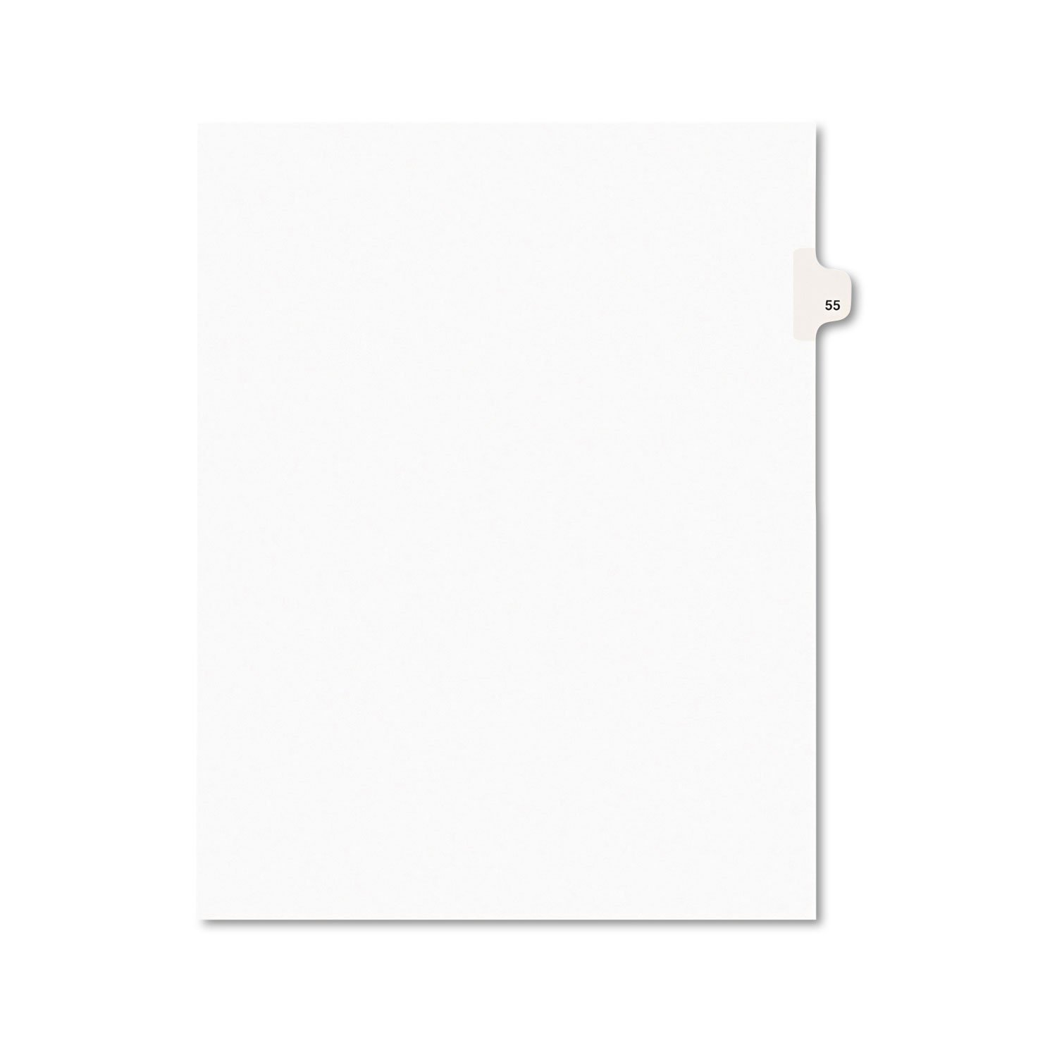 Avery 01055 Avery-Style Legal Exhibit Side Tab Divider, Title: 55, Letter, White, 25/Pack AVERY-DENNISON