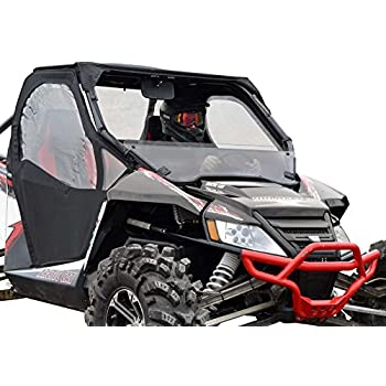 SuperATV Scratch Resistant Half Windshield for Arctic Cat Wildcat 1000/1000 4 (2012-2017) - Hard Coated on Both Sides for Extreme Durability and Long Life!
