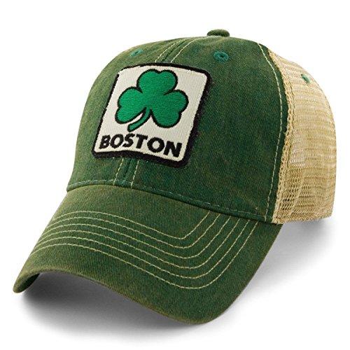 Chowdaheadz Boston Shamrock Patch Dirty Water Mesh Trucker Hat - Green ()