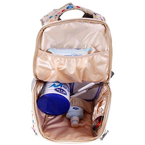 Babyhugs® 3pcs Ultra Light Cambiar Pañales Pañales Bolsa de mochila con arnés de seguridad para niños–Mochila Globos de color crema