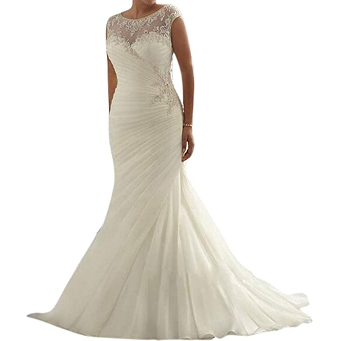 RightBride Plus Size Wedding Dresses 2017 For Bride Sleeveless Mermaid At Amazon Womens Clothing Store