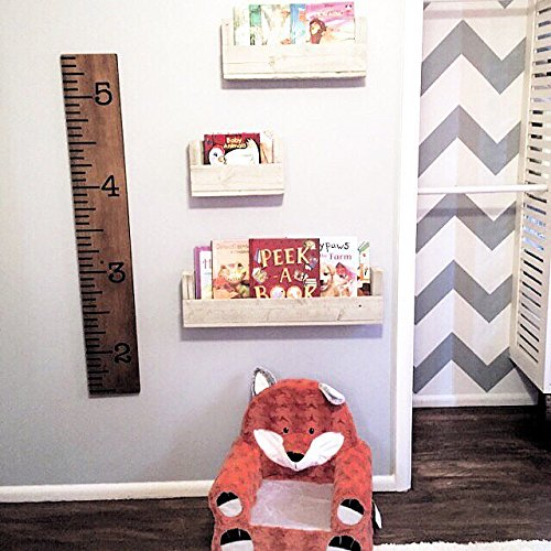 Drakestone Designs Nursery Bookshelves Various Sizes (Set of 3) | Wall Mount | Handmade Rustic Reclaimed Wood - Whitewash by Drakestone Designs (Image #1)