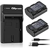 OAproda 2 Pack Fully Decoded NP-FZ100 Battery Charger Set and USB Charger Compatible with Sony BC-QZ1 Charger, Alpha A7 III, A7R III, A9, Sony Alpha 9, A7R3 Digital Camera