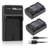 OAproda 2 Pack NP-FZ100 Battery 2380mAh and Rapid USB Charger for Sony NP-FZ100, BC-QZ1 and Sony A9, A7 III, A7R III, A7R3 Digital Cameras (Fully Decoded, 100% Compatible with Original)