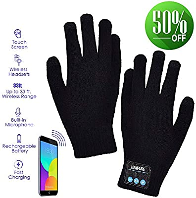 Bluetooth 3.0 Calling Talking Gloves Hand Gesture Touch Screen with Speaker MIC