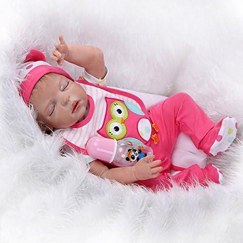 Lilith Realistic Lifelike 23 Inch 57cm Soft Silicone Reborn Baby Dolls Beautiful Girl Doll Toddler Full Body Vinyl Newborn Anatomically Correct