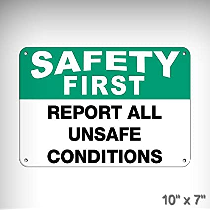 Amazon Com New Safety First Report All Unsafe Conditions Safety