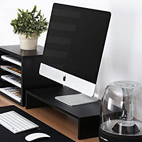 FITUEYES Computer monitor riser 21.3 inch Monitor Stand with keyboard Storage Space ,DT105401WB