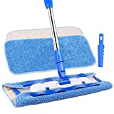 under appliance mop - MR. SIGA Professional Microfiber Mop,Stainless Steel Handle - Pad Size: 42cm x23cm, 2 Free Microfiber Cloth Refills and 1 Dirt Removal Scrubber Included