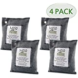 Moso Natural Air Purifying Bag 200g Charcoal Color, Four Bags