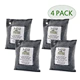Automotive : Moso Natural Air Purifying Bag. Odor Eliminator for Cars, Closets, Bathrooms and Pet Areas. Charcoal Color, 200-G, 4 Pack