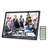 Digital Picture Frame, Andoer 13 inch LED Digital Photo Frame 1080P HD Resolution Desktop Display Image MP4 Video Support Auto Play with Infrared Remote Control/ 7 Touch Key