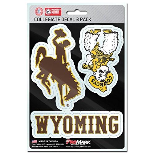 - NCAA Wyoming Cowboys Team Decal, 3-Pack