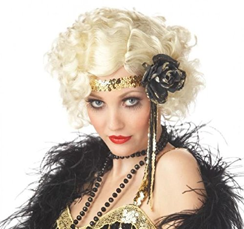 Fancy 20's Jazz Baby Fashion Flapper Adult Costume Wig - Blonde (Infant Pink Flapper Costume)