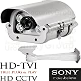 USG 2.4MP 1080P Sony Chipset License Plate Recognition LPR Capture Bullet Security Camera : 5-50mm Vari-Focal HD Lens : 4x Array WHITE LEDs : HD-TVI, HD-CVI, AHD, Analog CCTV Format : Business Grade