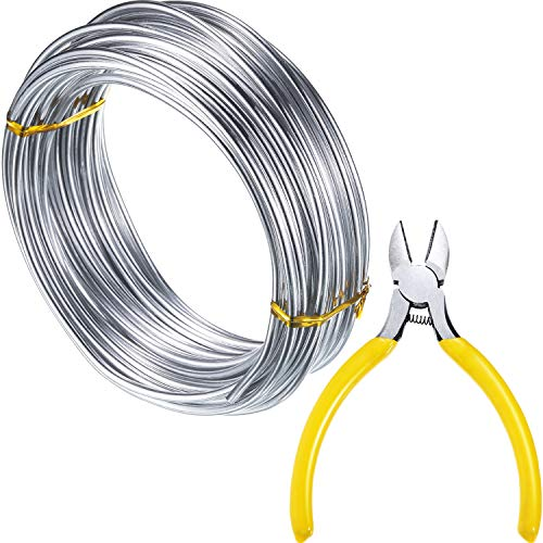 uminum Wire (3 mm), DIY Craft Wire, Soft and Bendable, Add a Round-Nosed Plier to Cut ()