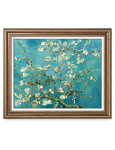 DecorArts - Almond Blossom Tree - Vincent Van Gogh Reproduction. Giclee Print w/ Bronze Frame for Wall Decor. 30x24