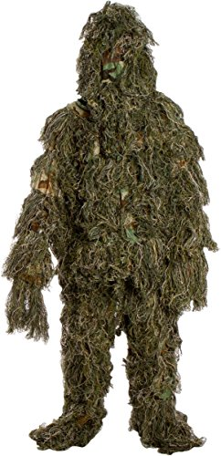 Ghillie Suit 3 Piece Set - One Size Fits All Teens By Modern Warrior (Swamp Monster Costume)