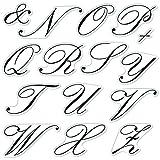 Fiskars Crafts Clear Stamps 4x8 inch (N-Z), Script Monogram (N-Z), 20 Piece