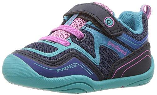 Grips Force (pediped Kids' Grip Force Sneaker,Navy,21 E EU Toddler (5.5 US))