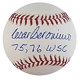 "Cesar Geronimo Autographed Official MLB Baseball Cincinnati Reds ""75, 75 WSC"" PSA/DNA"