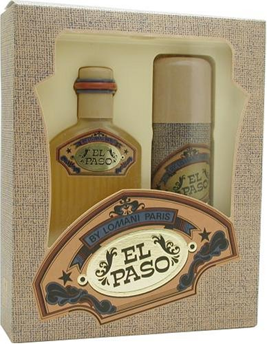 Lomani Citrus Cologne - El Paso By Lomani For Men. Set-edt Spray 3.4 Ounces & Deodorant Spray 6.8 Ounces