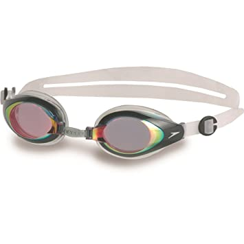 42f2aac17f1 Speedo Unisex's Mariner Mirror Goggles, Red/Clear, One Size: Amazon ...