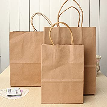 Chenxi tienda bolsas de papel marrón Kraft bolsa de papel ...