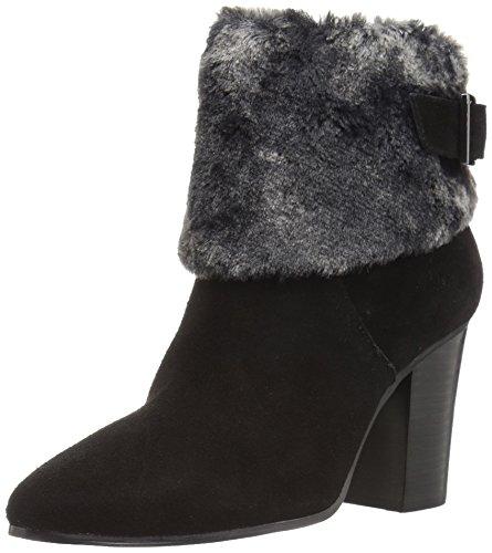 Aerosoles Women's North Square Ankle Boot, Black Suede, 6 M US ()