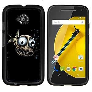 Cubierta protectora del caso de Shell Plástico || Motorola Moto E ( 2nd Generation ) || Diseño Fish Evil @XPTECH