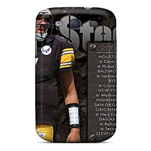 Excellent Hard Phone Case For Samsung Galaxy S3 With Unique Design Fashion Pittsburgh Steelers Skin InesWeldon