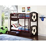 ACME All Star Soccer Twin over Twin Bunk Bed in Espresso