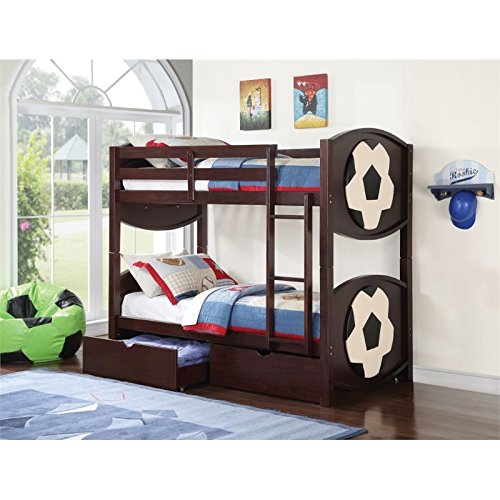 ACME All Star Soccer Twin over Twin Bunk Bed in Espresso by Acme Furniture