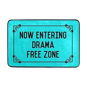 naanle entrada Felpudo entrando en el teatro zona libre Floor Mat antideslizante Felpudo 23.6por 15,7pulgadas Poliéster lavable a máquina