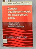 General Equilibrium Models for Development Policy, Dervis, Kemal and Kemal, Salim, 0521270308
