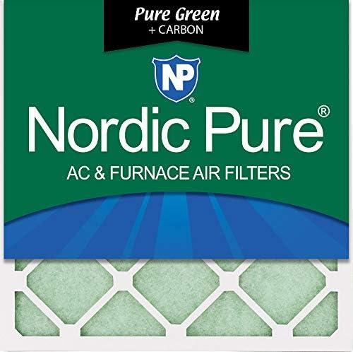 Nordic Pure Green Plus Carbon Umweltfreundliche AC Ofen-Luftfilter 50,8 x 50,8 x 2,5 cm, 3 Stück