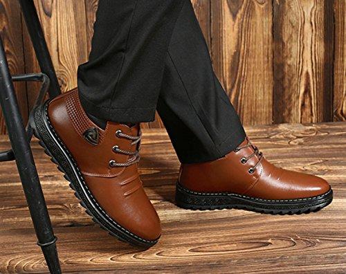 Lässig Baumwolle Warmen LINYI Kaschmir Men's Outdoor Schnee Stiefel Stiefel Business Brown qw0wZf