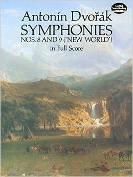 ドヴォルジャーク: 交響曲 第8番 ト長調 Op.88、第9番 ホ短調 Op.95 「新世界より」/ドーヴァー社/大型スコア