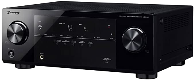 Pioneer VSX-521-K 5.1 Home Theater Receiver, Glossy Black (Discontinued on
