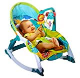 Toyshine Newborn To Toddler Vibrating Rocker Chair With Calming Vibrations, Adjustable Mode, Green