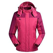 HengJia Womens Ski Jacket Snowboarding Waterproof Rain Jacket with Fleece Lining