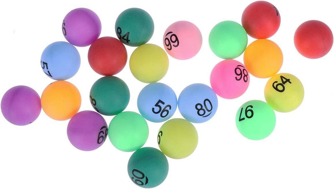 NUOBESTY Bolas de la rifa Colecciones de números Bolas de lotería Bolas de números de Colores Surtidos para Juegos de Grupo, Publicidad, sorteo de Suerte 150 Piezas (número 1-150)