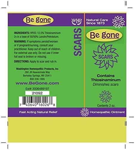 Be gone Scars Ointment, 2 Ounces  Thiosinaminum, renowned for reducing  scarring, is the active