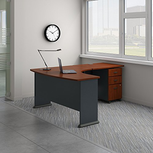 Bush Business Furniture Office Suite SRA056HCSU, Hansen Cherry/Galaxy by Bush Business Furniture