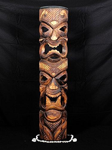 Love/Prosperity Tiki Mask 40'' - Antique Finish | #skn16007100 by TikiMaster