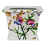 Square Chinese Porcelain Orchid Planter For Sale